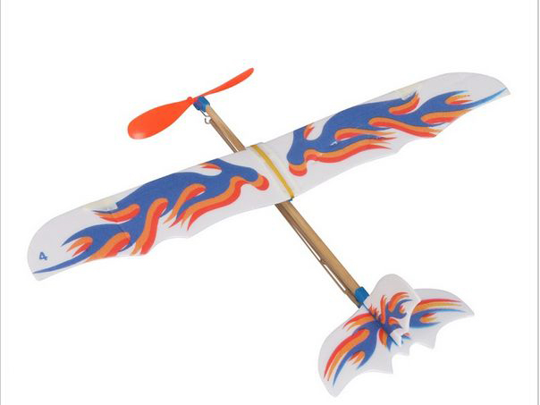 Small Rubber Powered Flying Plane Kit
